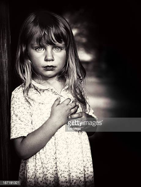 Little girl in poverty