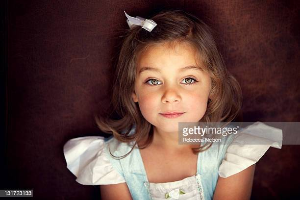 little girl in princess dress - hazel eyes stock pictures, royalty-free photos & images