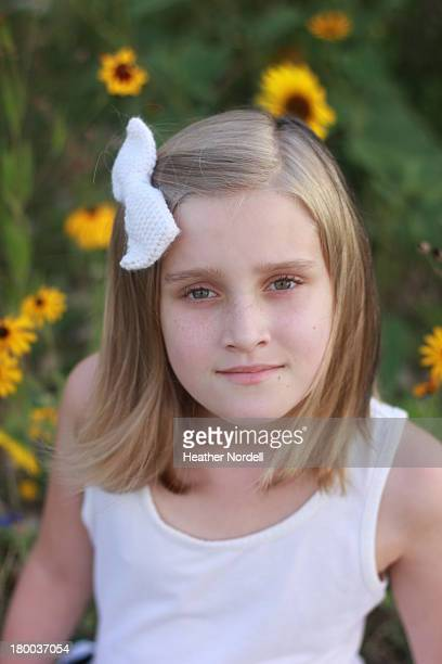 Little Girl in Sunflowers