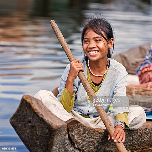 Little girl in the boat, Cambodia
