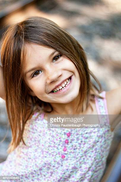 Little Girl in the Summer Mountains