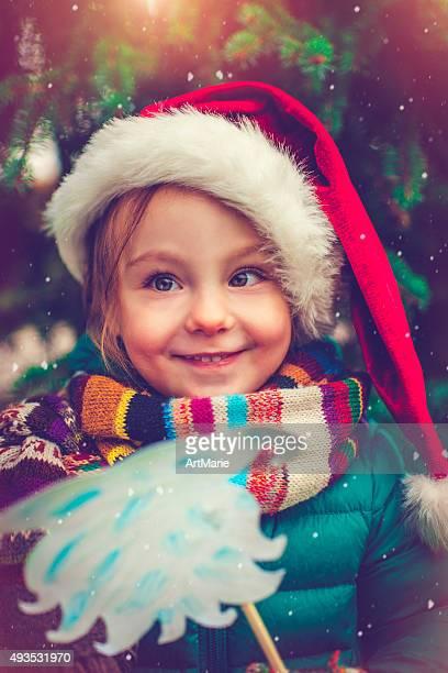 Mädchen in Weihnachten