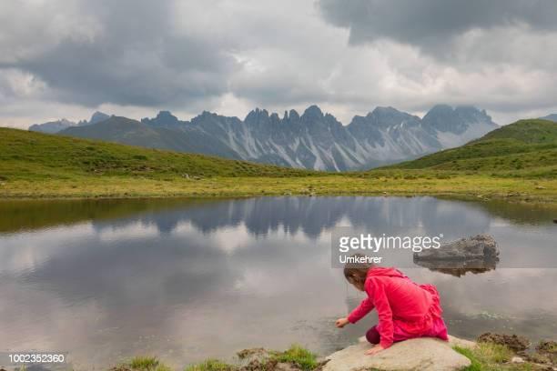 Kleines Mädchen Verlegung Salfains See