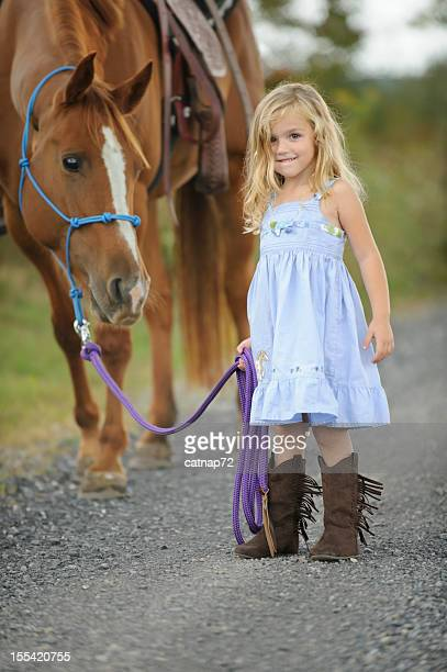 Little Girl Leading Big Horse