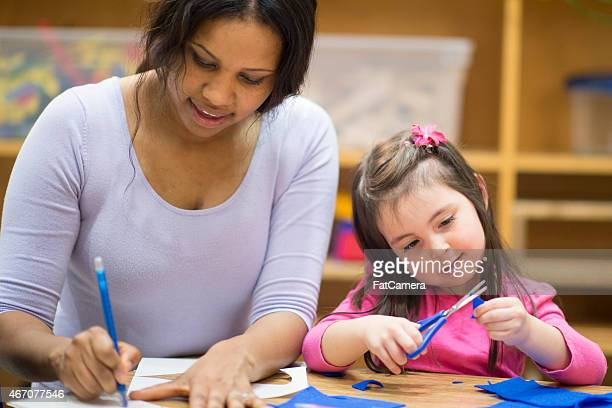 Little Girl Learning Arts and Crafts