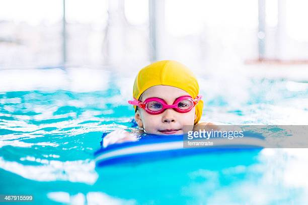 Little Girl Learning to Swim