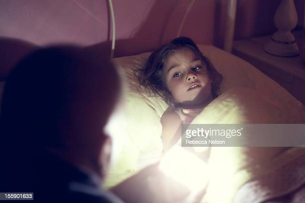 Little Girl Listening to a Bedtime Story