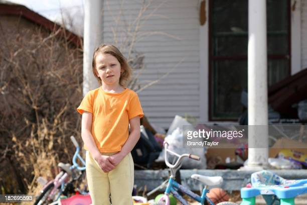 A little girl living in poverty in America