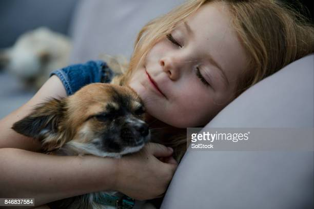 Little Girl Living with Pets