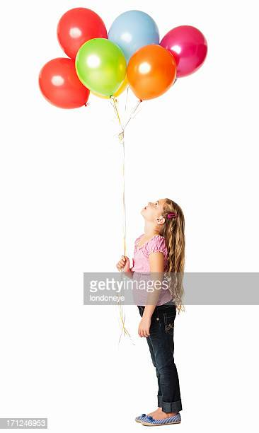 Little Girl Looking At the Balloons - Isolated