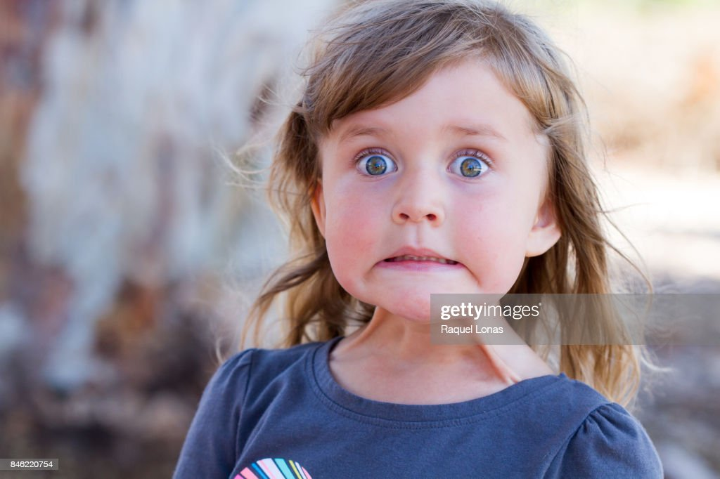 Little girl making a face : Stock-Foto