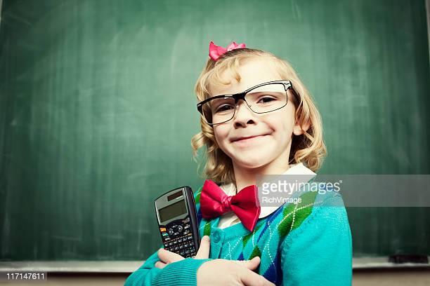Kleines Mädchen Mathematik Whiz