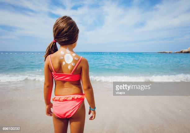 little girl on a vacation at the sea - hot young girls stock photos and pictures
