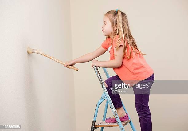 Kleines Mädchen Gemälde der Wand