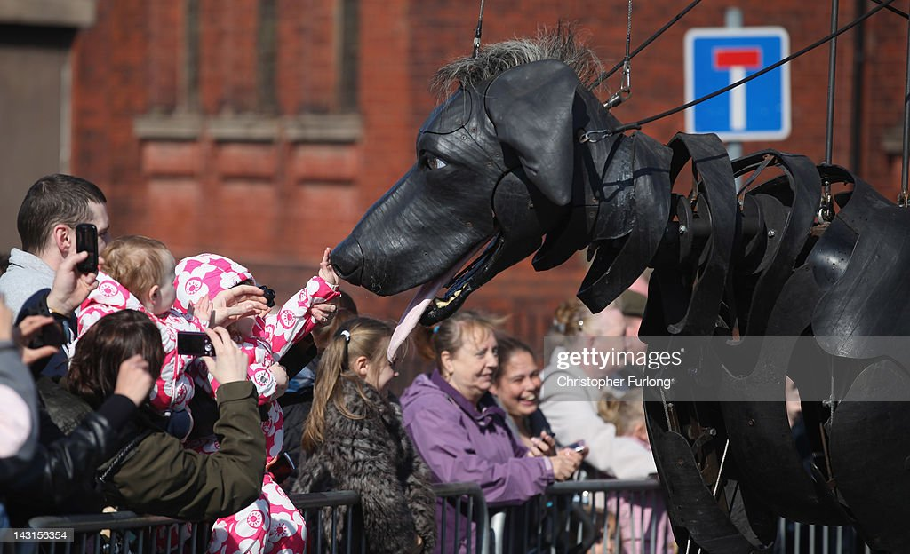Giant Puppets Perform During The Titanic Sea Odyssey Giant Spectacular : News Photo