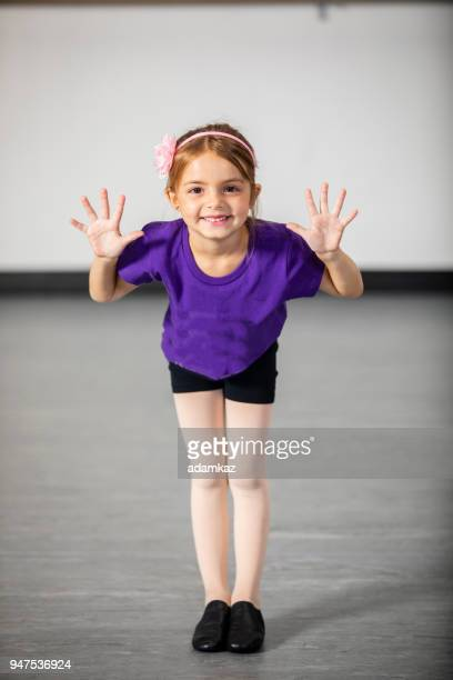 little girl performing in studio theater - acting stock pictures, royalty-free photos & images