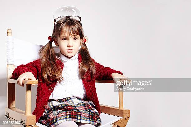 little girl - filmregisseur stock-fotos und bilder