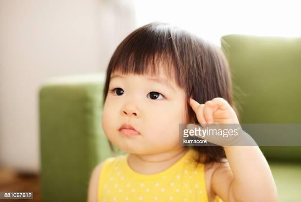 Little girl portrait,close up