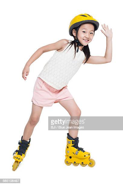 little girl roller skating - legs apart stock pictures, royalty-free photos & images