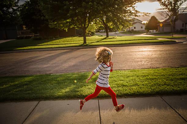 Little Girl Running Wall Art
