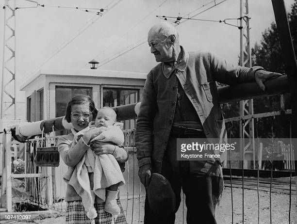 Little Girl Saving Life Of Her Grand Father And Her Little Sister At Chorey Les Beaune In France During Sixties