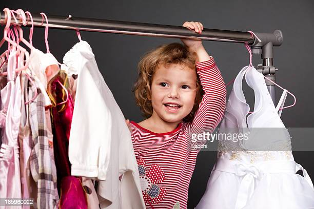 Little girl shopping