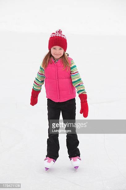 little girl スケーティング - スケート靴 ストックフォトと画像