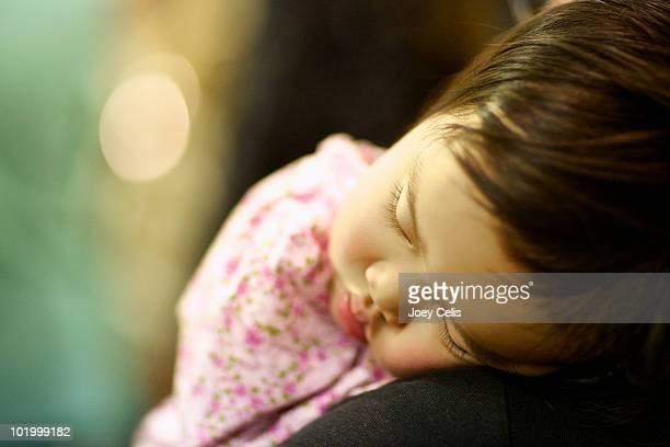 Little girl sleeps peacefully