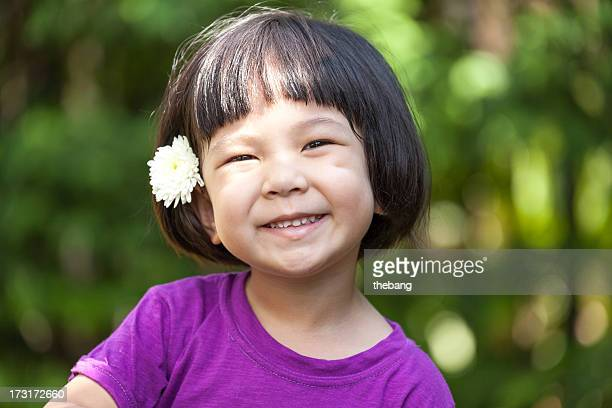 little girl smile - very young thai girls stock photos and pictures