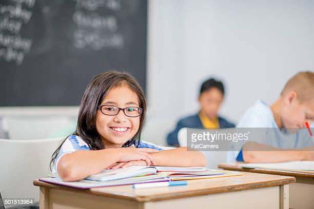 Little Girl Smiling in Class