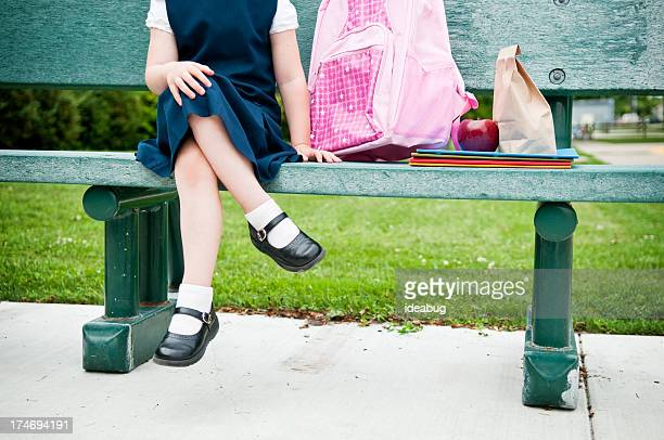 Little Girl Student Waiting for First Day of School