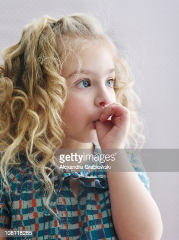 Little Girl Sucking Thumb Stock Photo Getty Images