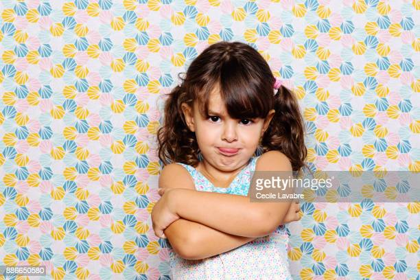 little girl sulking - sulking stock pictures, royalty-free photos & images
