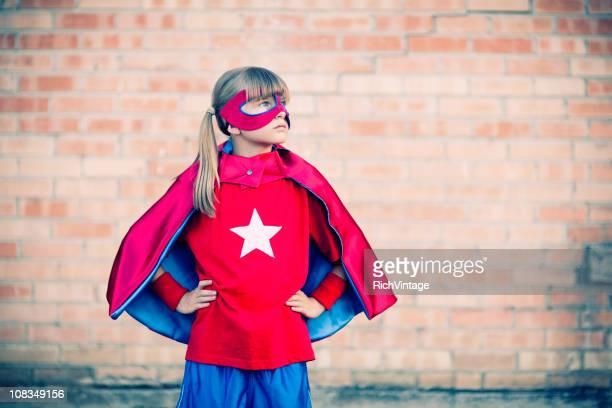 Kleines Mädchen Superheld