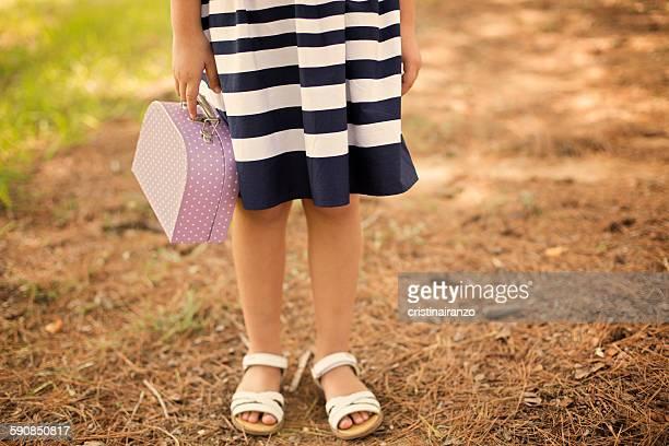Little girl traveling