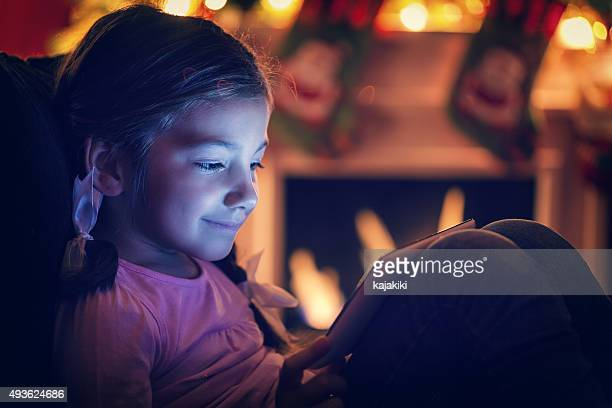 Little Girl Using Digital Tablet
