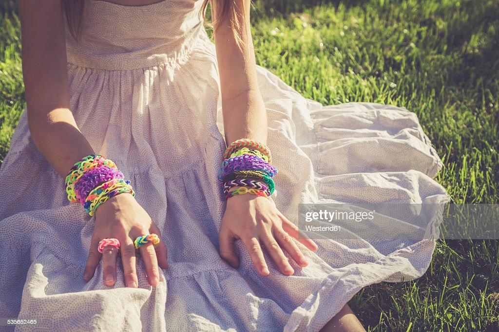 Girl Hand With Bracelet And Ring Stock Photos and Pictures | Getty ...