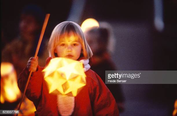 Little girl with a lantern