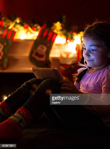 Little Girl With a Tablet