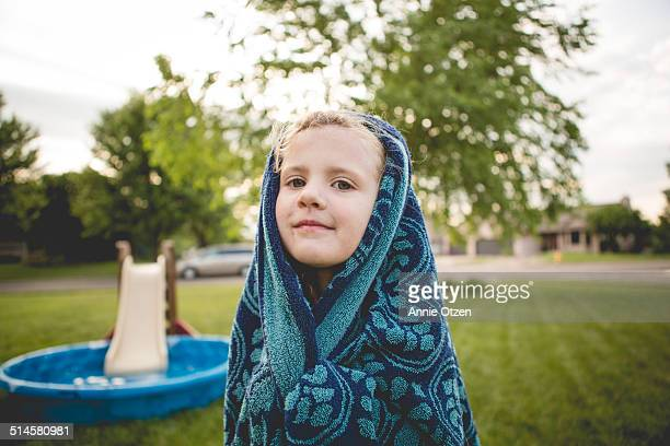 Little girl with a towel