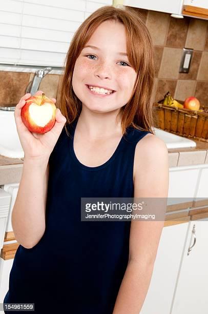 Little Girl with an Apple