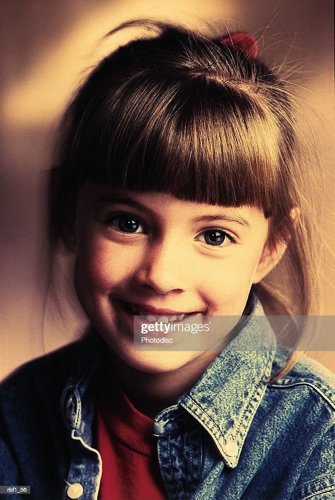 Outstanding Little Girl With Brown Hair Pulled Back In A Ponytail With Bangs Schematic Wiring Diagrams Amerangerunnerswayorg
