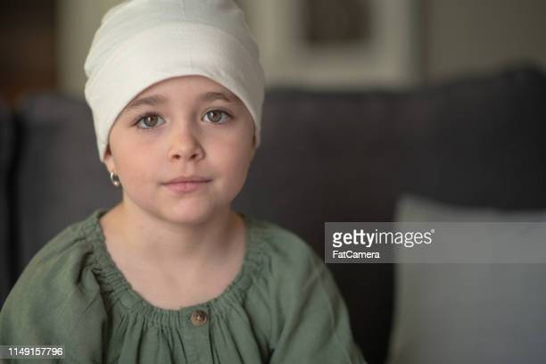 little girl with cancer - leukemia stock pictures, royalty-free photos & images