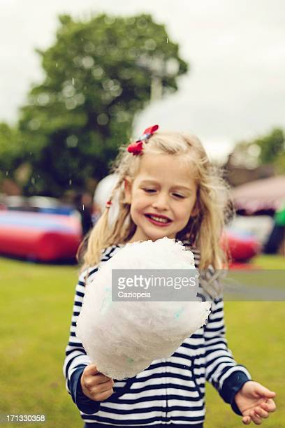 Little Girl with Candy Floss