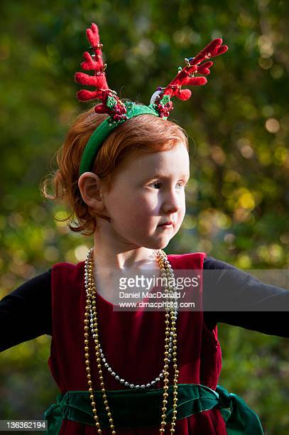 Little girl with Christmas costume