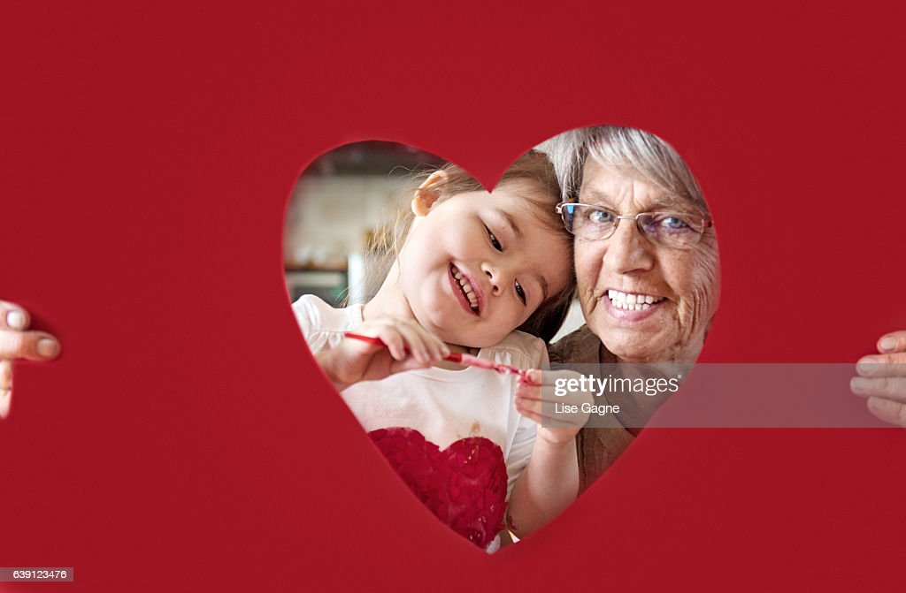 Little girl with grandmother : Stock Photo