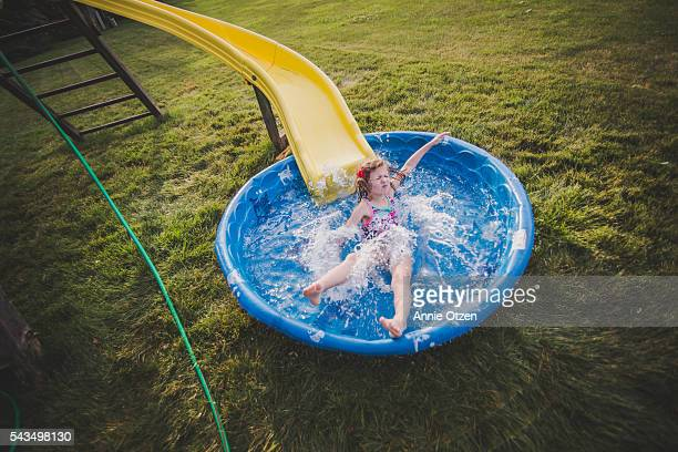 Little Girl with Kiddie Pool