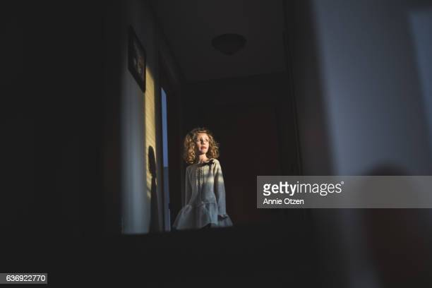 Little Girl with Light no her face