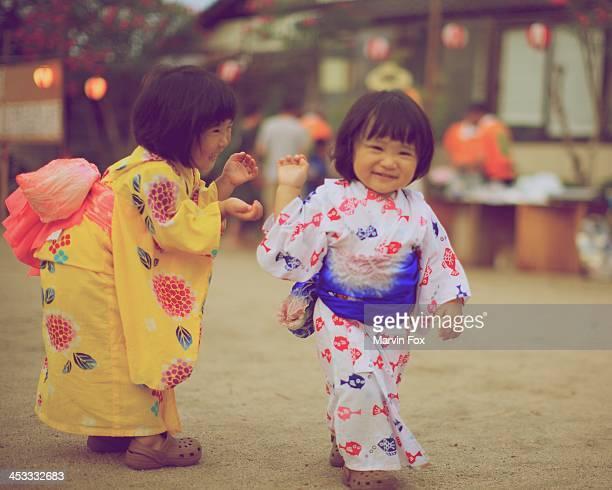 Little girls at a festival