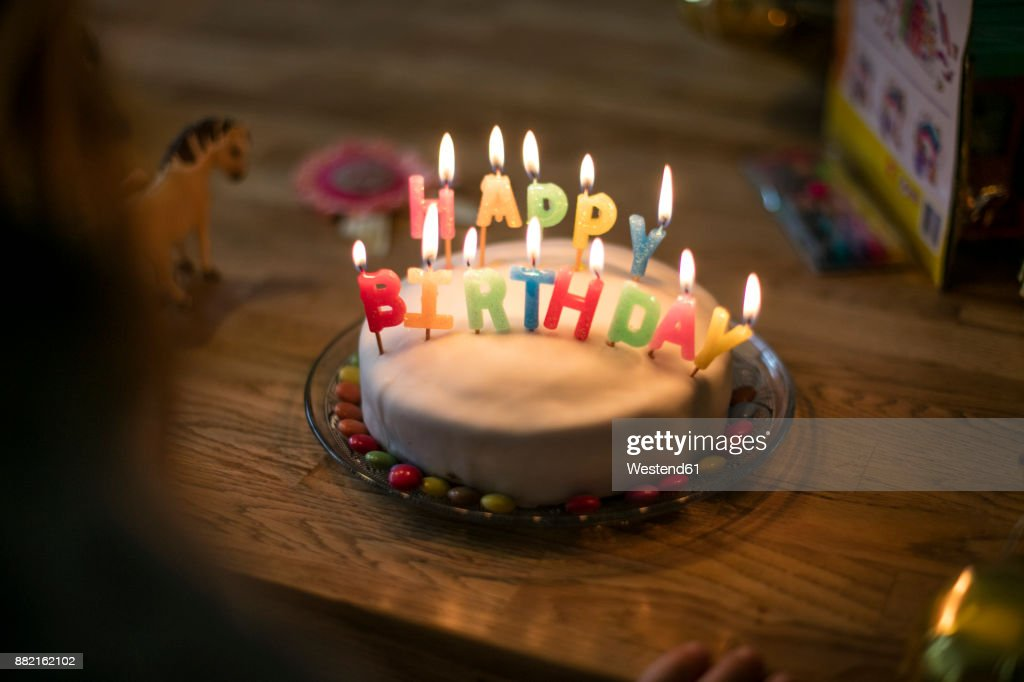 Swell Little Girls Birthday Cake High Res Stock Photo Getty Images Funny Birthday Cards Online Elaedamsfinfo